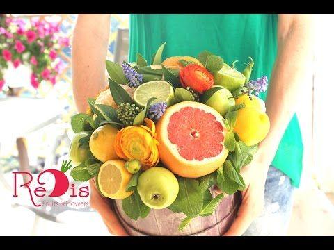Фруктовые букеты Одесса.  Овощные букеты Одесса.  0679304943  ReDis Studio - YouTube