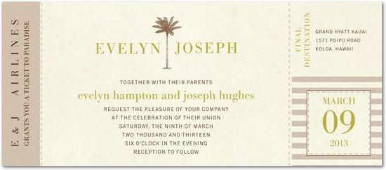 Don't like this invite, but I like the style of the other stuff for an invite. weddingpaperdivas.com
