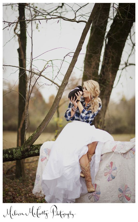 879963917 LOVE this photo - must have flannel w  wedding dress skirt!!! The Barn at Twin  Oaks Ranch ...