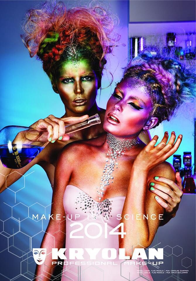 Studio of Make-Up just received our Kryolan makeup Calender for 2014. It is fabulous!!