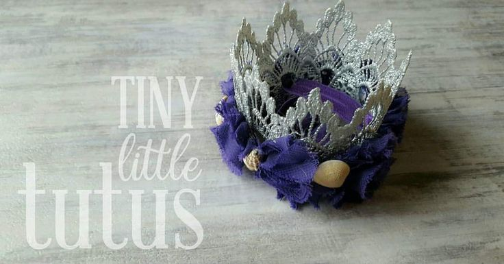 Mermaid seashell crown in silver lace. Perfect for your little mermaid's birthday photos or party. Visit us on Facebook or Etsy for custom orders. Facebook link below photo, Etsy link on our main page. Fast shipping available.