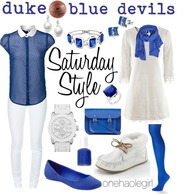 """Feb 9th Duke Blue Devils"" by onehaolegirl on Polyvore"