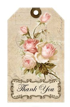 Label Sagenroses-Thank You-©CW   cards   Pinterest   Thank You Labels, Tags and Thank You Tags