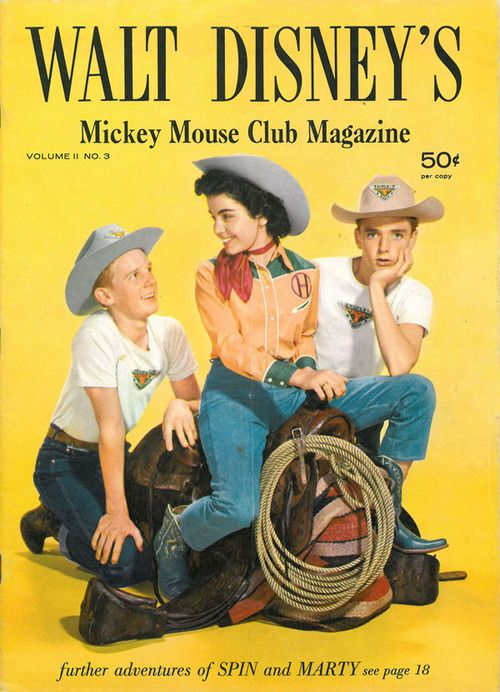 vintage Mickey Mouse Club magazine cover