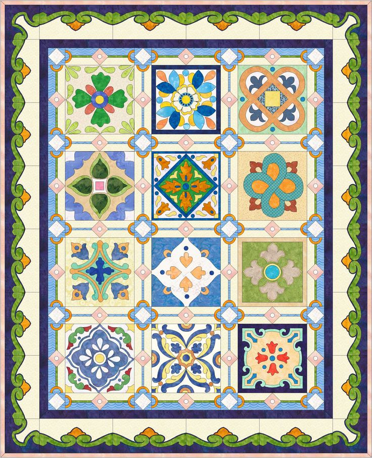 Quilt Block Patterns Free Mexican Tiles Q...