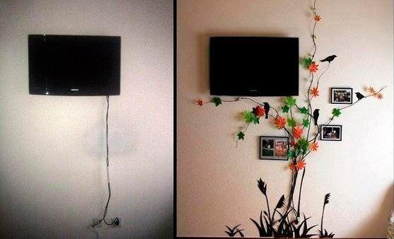 Como disfarçar os fios e cabos aparentes e, ao mesmo tempo, incorporá-los na decoração da casa.
