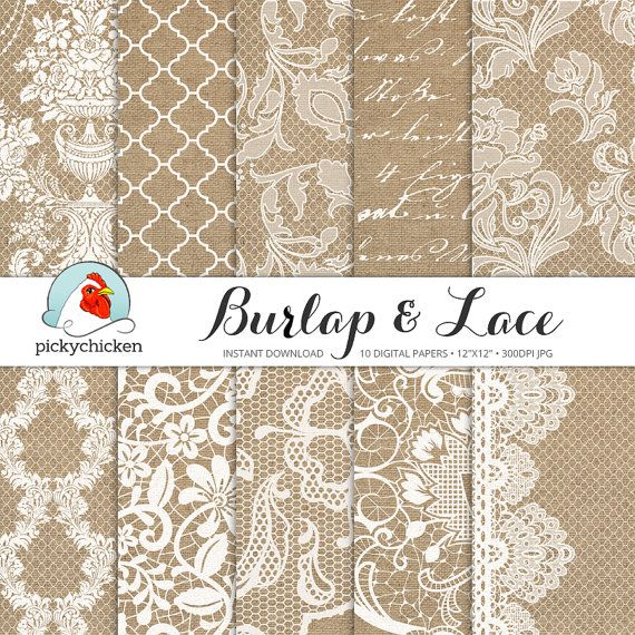 Hey, I found this really awesome Etsy listing at https://www.etsy.com/listing/182929958/burlap-wedding-paper-burlap-lace-digital