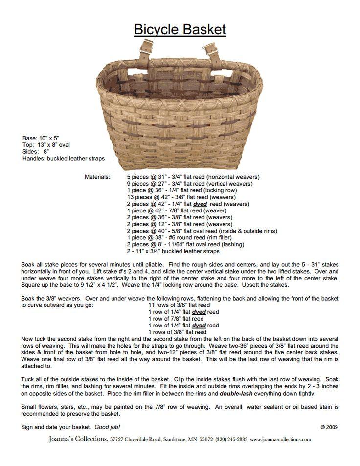 236 best basket weaving, supplies, patterns, etc images on Pinterest ...