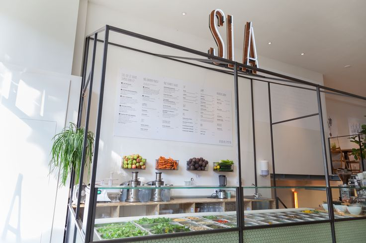 Sla veggies shop concept store salad bar interior for Food bar 527