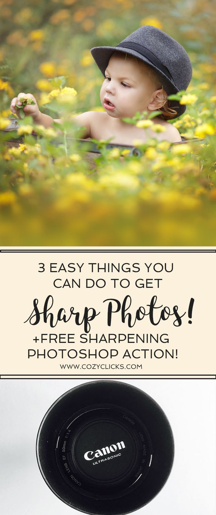 Are you a new photographer struggling with getting sharp focus?  Are your photos turning out blurry?  Learn three easy things you can do know to see an increase in the sharpness of your photos!