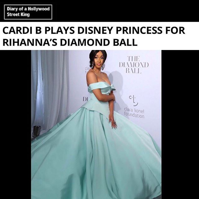 Chic clothing & accessories - THE destination for trendsetters around the world SHOP NOW!  Designer #ChristianSiriano dressed Cardi B like a Disney princess for Rihanna's annual Diamond Ball…  In case you didn't know…  Rihanna, the ultimate multi-tasking queen, capped off her whirlwind New York Fashion Week with a bang on Thursday night. First, the Grammy-winning singer released her long-awaited cosmetics line, Fenty Beauty, on September 8 and was met with massive praise from both beauty…