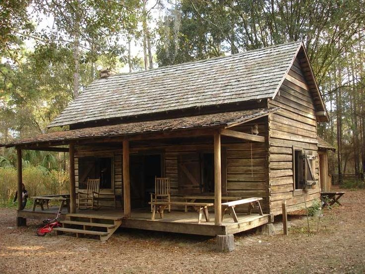 1340 best rustic cabin images on pinterest log cabins for Florida cracker house plans wrap around porch