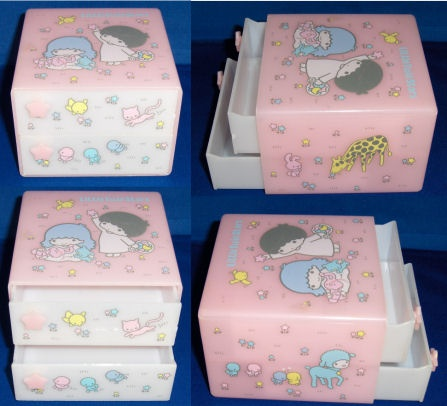 @Sanrio  Vintage Little Twin Stars keepsake box. I took some pictures of it for you. Dated 1976