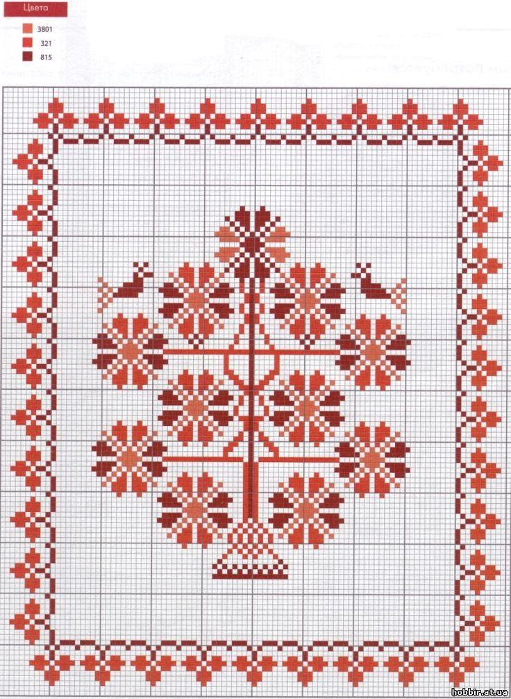 Вышивка орнаментов полотенец