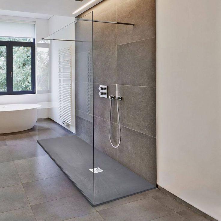 Deluxe10 walk through 650mm wet room shower screen 10mm