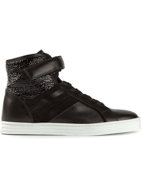 Shop Hogan Rebel multi-textured hi-top sneakers in Eraldo from the world's best independent boutiques at farfetch.com. Over 1000 designers from 60 boutiques in one website.