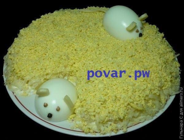 """Салат """"Мышки""""  Когда я приготовила этот салат на день рождения мужа, несмотря на…"""