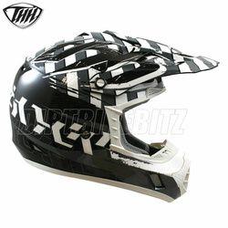 2014 Thh Tx12 Hazard Motocross Helmet - Black Silver - 2014 Thh Motocross Helmets - 2013 Motocross Gear - by Thh Helmets