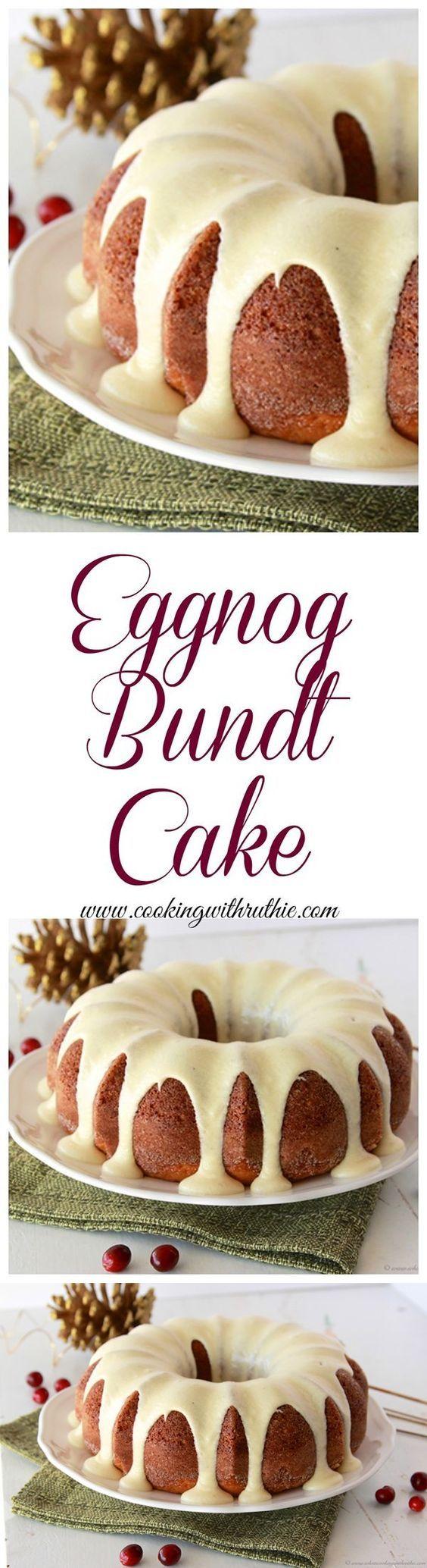 Egg Nog Bundt Cake with Egg Nog Frosting