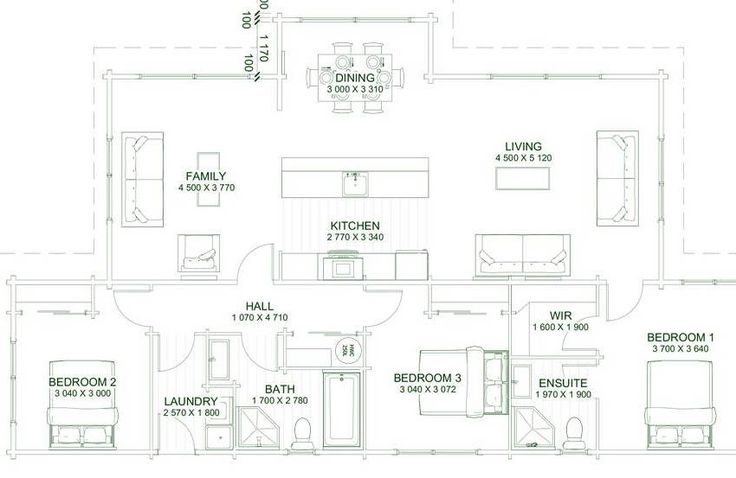 The Bayside is deceptively spacious with 3 bedrooms, each separated by interceding rooms for privacy. Generous living, dining, kitchen and family areas opening out to the balcony.