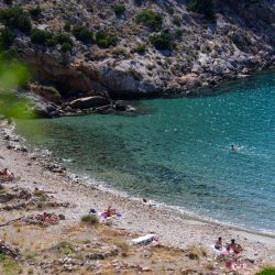 go downhill the hill of Agia Pakou and they will find themselves on Armeos Beach