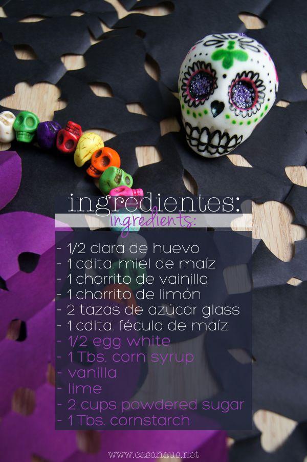 ingredientes receta calaveras azucar