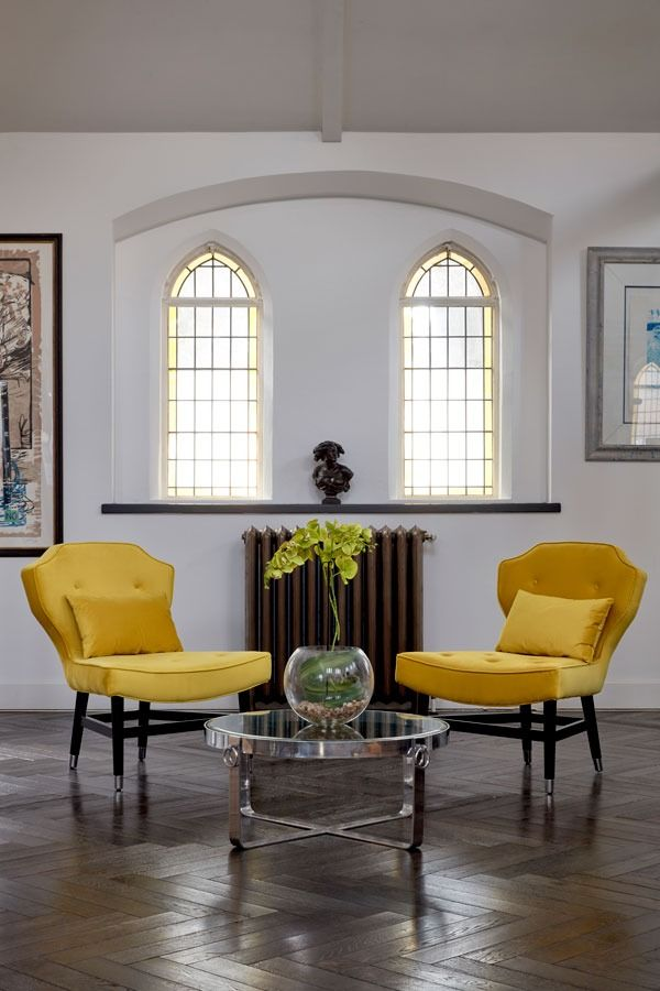 Wallberg Occasional Chair Mustard Oversized Chair Living Room