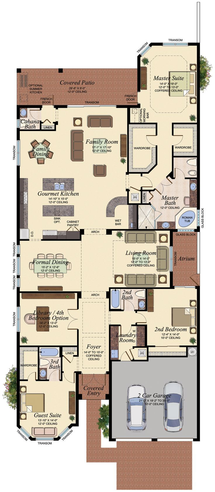 PASEO552 Floor Plan 1520 best Houseplans images