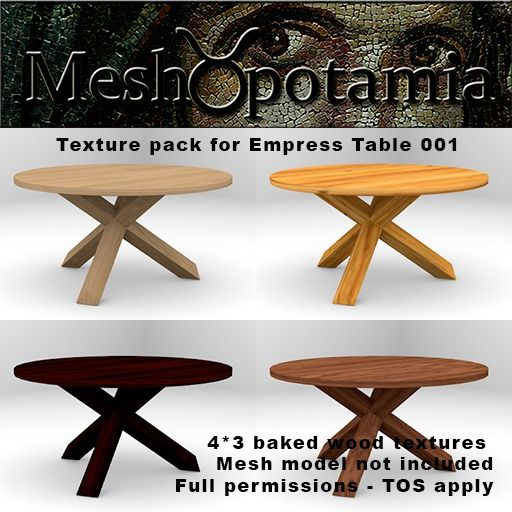 Meshopotamia Empress Table 001 Texture Addon