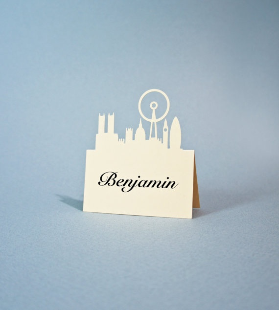 London UK Place Card Big Ben Wedding Place by JonNiPaperGoods, $100.00