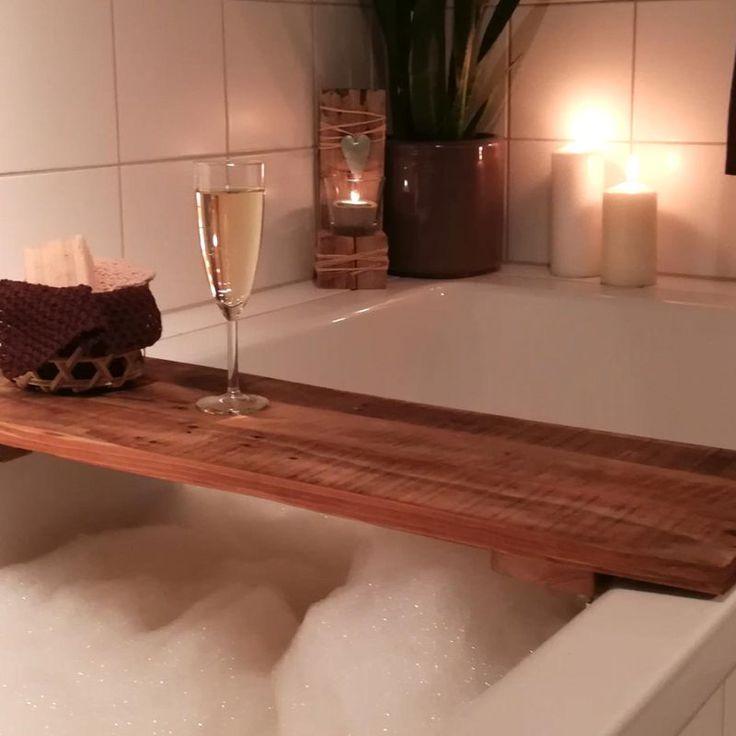 Badewannenablage Holz Wood Badezimmer Paletten