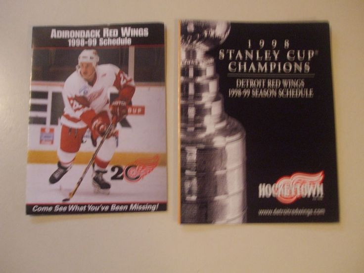 1999 detroit red wings & adirondack red wings pocket schedules (2) l@@k! from $1.99