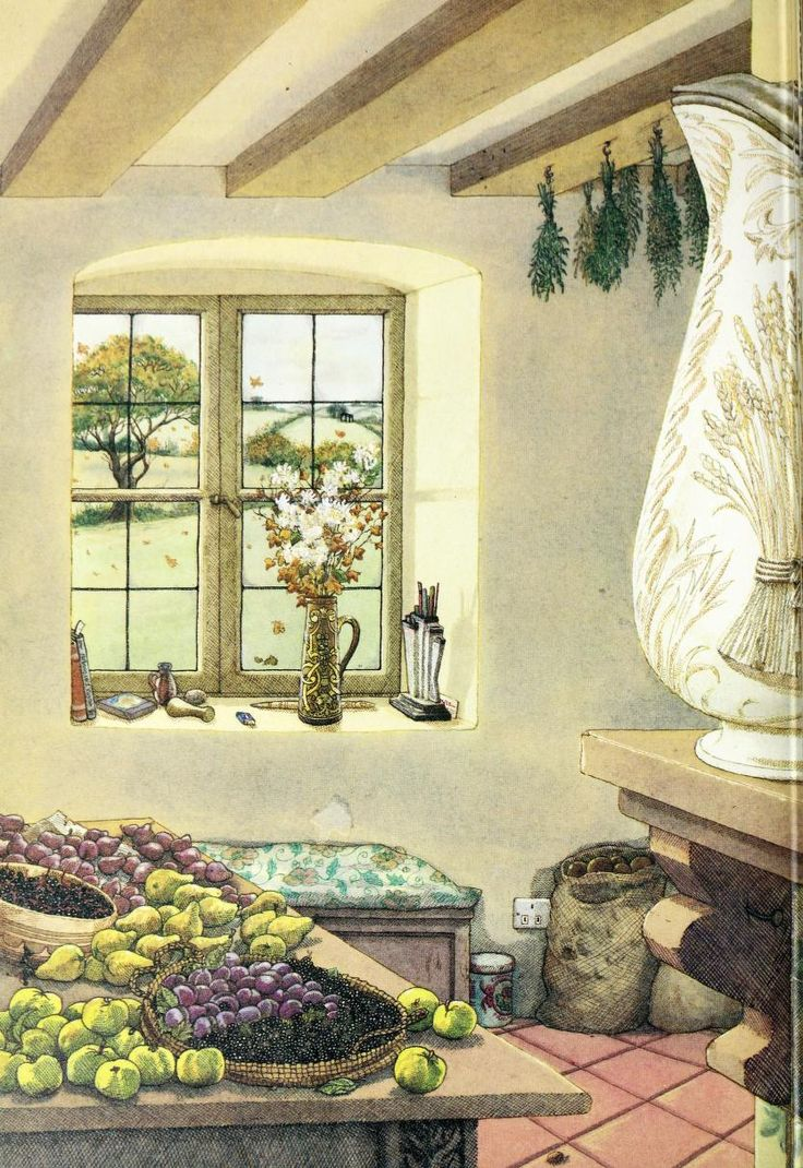 Through the kitchen window 1984 illustrations by angela for Window design 4 by 4
