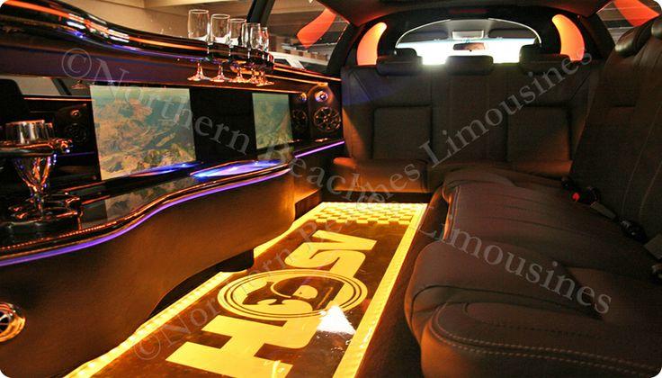 HSV stretch limousine interior - seats 10!