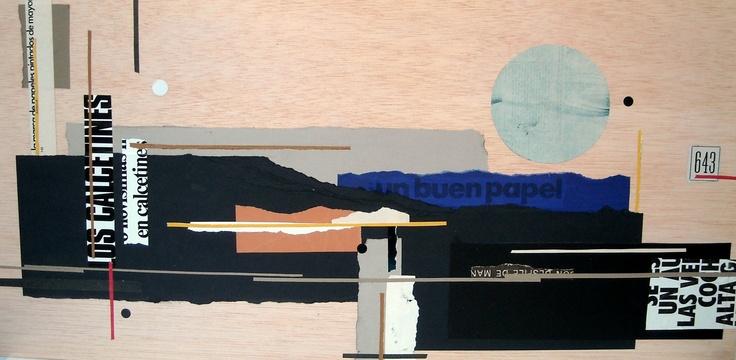 Collage 40x80 cm
