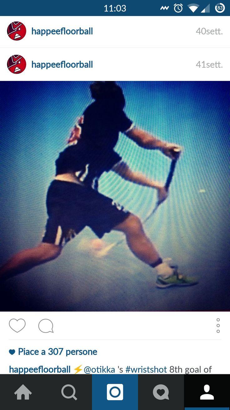 Right way to shot! SHC Firelions Serenissima #floorball