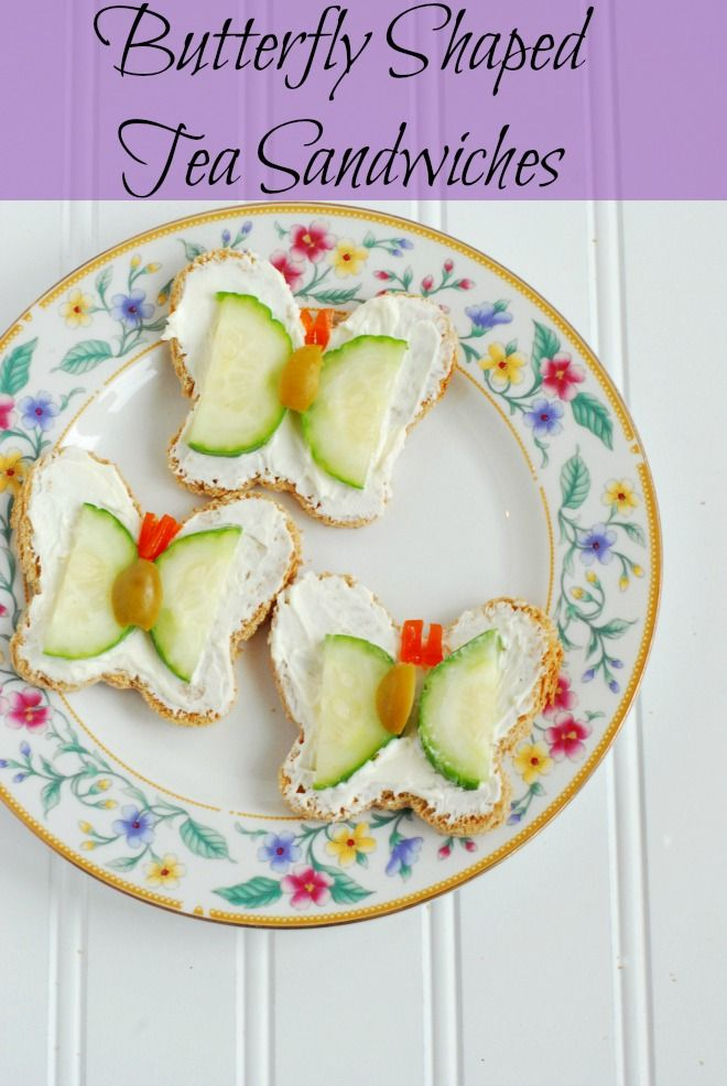 Try these delicious butterfly shaped tea sandwiches for your next tea party