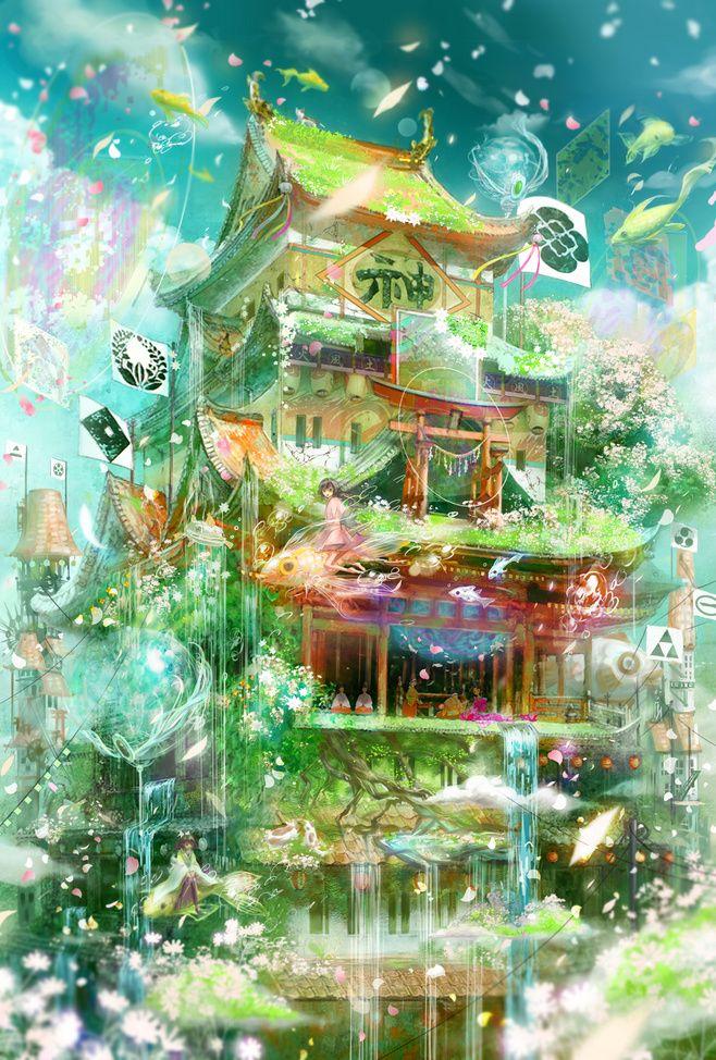 「春ノ風」/「minai」のイラスト [pixiv]色彩参考