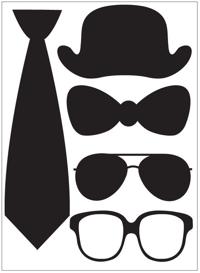 cravate noeud lunettes chapeau