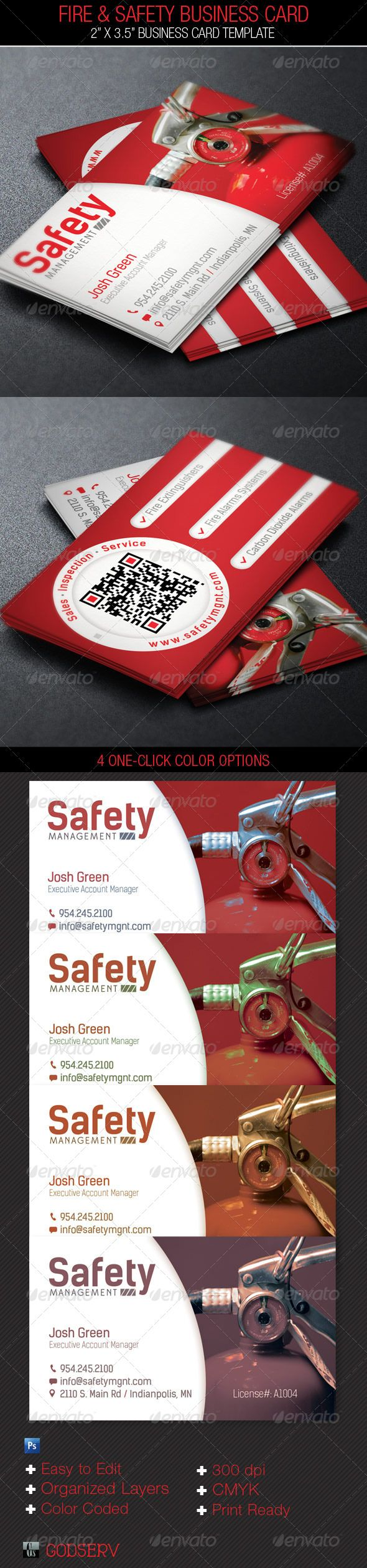 Fire safety service business card template tarjetas de fire safety service business card template tarjetas de presentacin tarjetas y ideas reheart Images