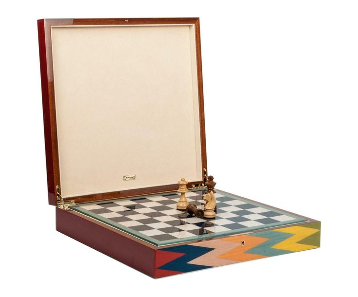 Chess Set Zag by Ercolano  Made in Italy using old world marquetry techniques, this hand veneered chess set is the perfect addition to your games collection. With storage under the board for your chess men this set not only plays well but also looks amazing.  #yvr #vancouver #bc #vancity #games #chess #chessboard #ercolano #wood #colourful #gameset #cabin #coffeetable #play #southgranville #luxury #glossy #quality #carbonfiber #italian #interiordesign #home #homedecor #design