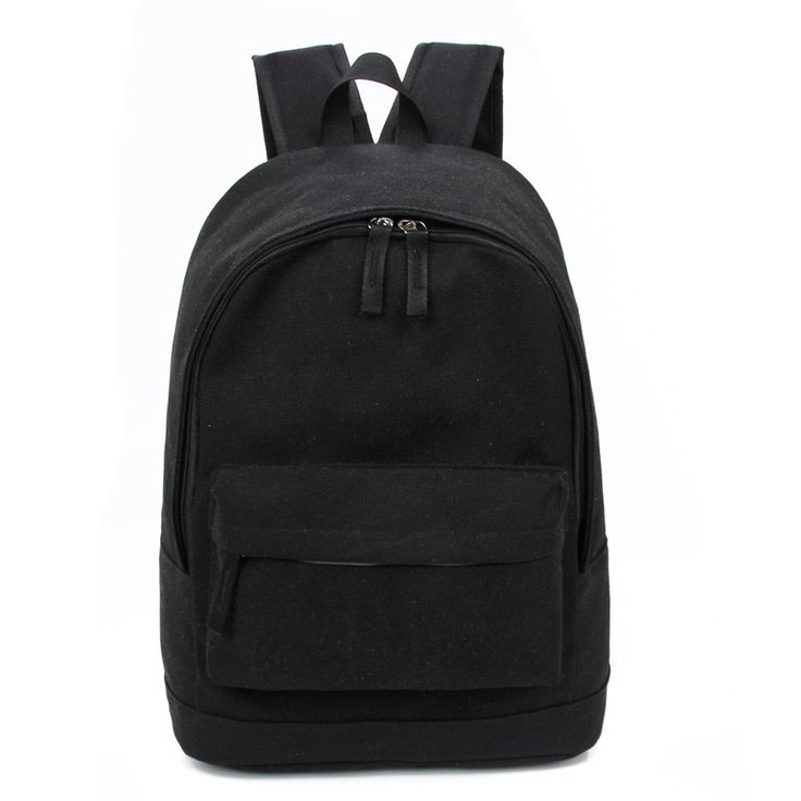 Korea Style Fashion Backpacks for Men and Women Solid Preppy Style Soft Back Pack Unisex School Bags Big Capicity Canvas Bag