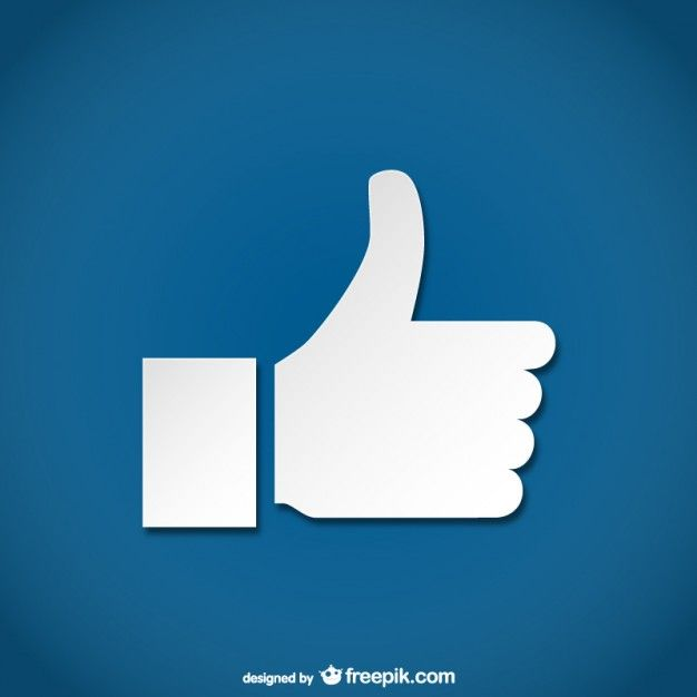 Simple thumbs up icon Free Vector