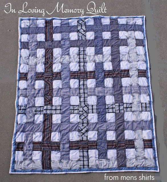 Quilt Patterns From Men S Shirts : men s dress shirt quilt pattern Running With Scissors: Men s Shirt Quilt-- I like ... Quilt ...