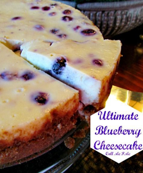 Blueberry Cheesecake is rich with pops of sweet juicy blueberries in every creamy bite!