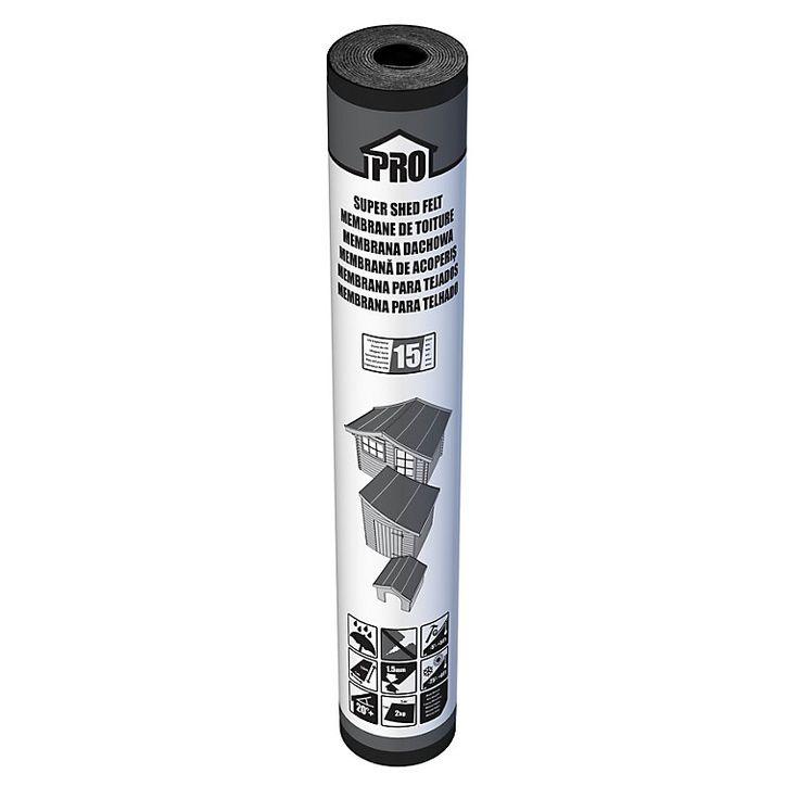 Roof Pro Black Super Shed Felt L 10m W 1000mm Diy At B Q Black Shed Shed B Q