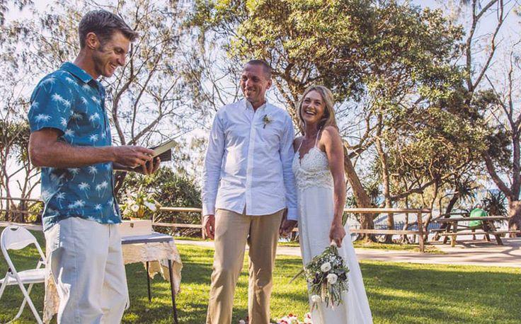 Benjamin Carlyle, Byron Bay Wedding Celebrant. Wategos Beach. Blue Tulip Imaging.
