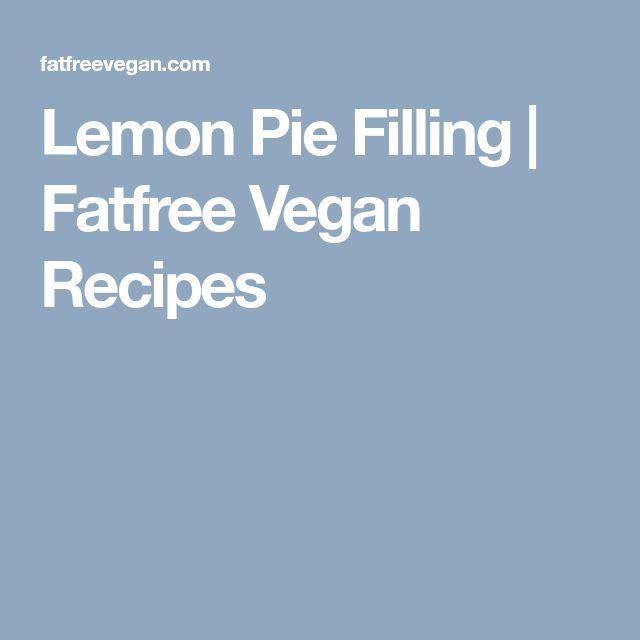 Lemon Pie Filling  | Fatfree Vegan Recipes