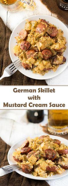 German Skillet with Mustard Cream Sauce recipe