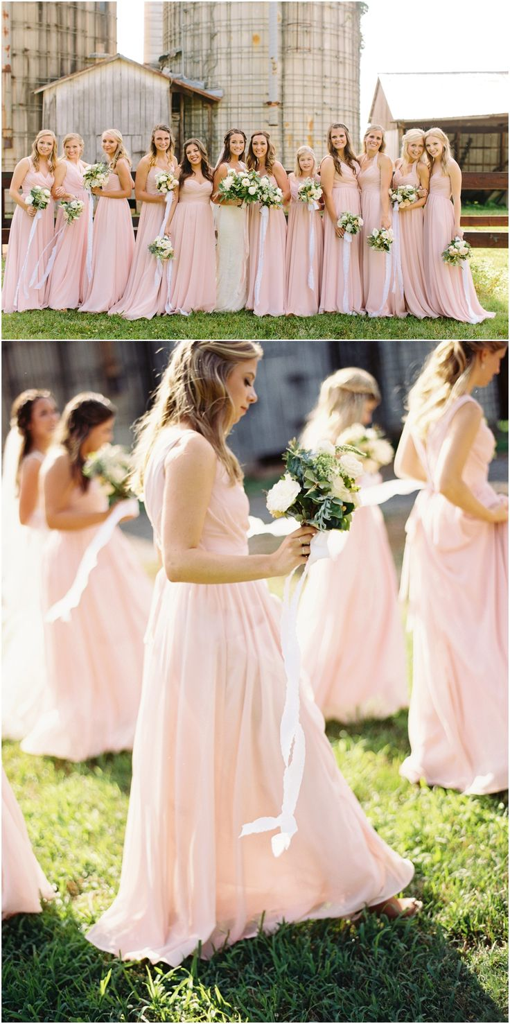Bridesmaids For A Barn Wedding At The Grove Williamson Place In Murfreesboro TN